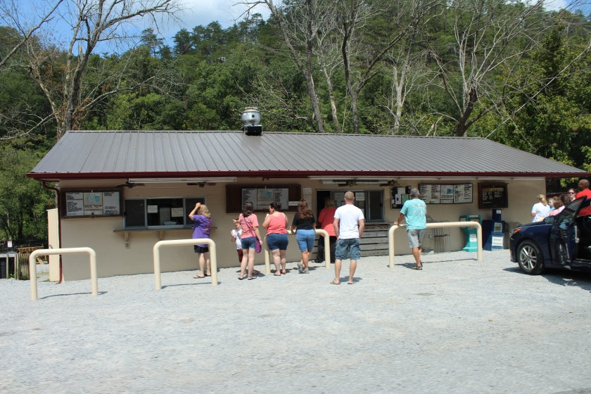 Tellico Beach Drive-In in the Appalachian Mountains