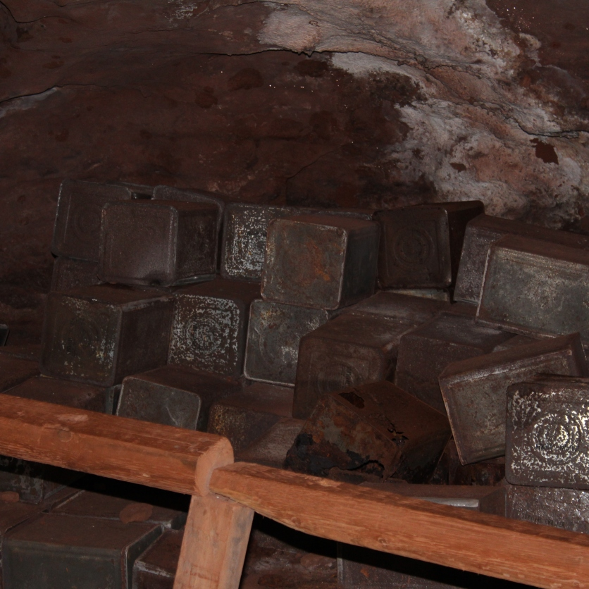 The caverns were used for food storage during the Cold War.